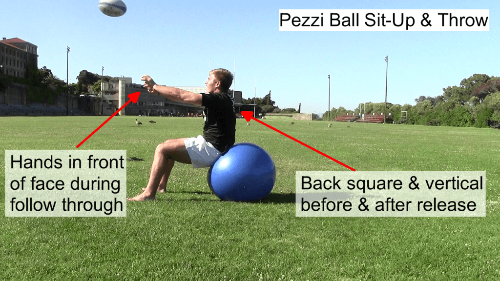 Pezzi Ball Sit Up & Throw Side View 3